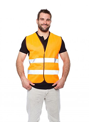 Smiling Portrait (Wallmonkeys Portrait of Smiling Worker in a Reflective Vest Peel and Stick Wall Decals WM64376 (18 in H x 13 in)