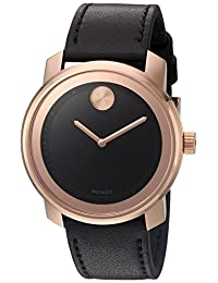 Movado Men's Swiss Quartz Gold-Tone and Leather Automatic Watch, Color:Brown (Model: 3600376)