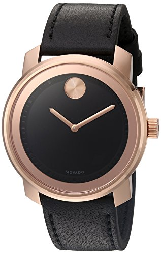 - Movado Men's Swiss Quartz Gold-Tone and Leather Watch, Color: Brown (Model: 3600376)