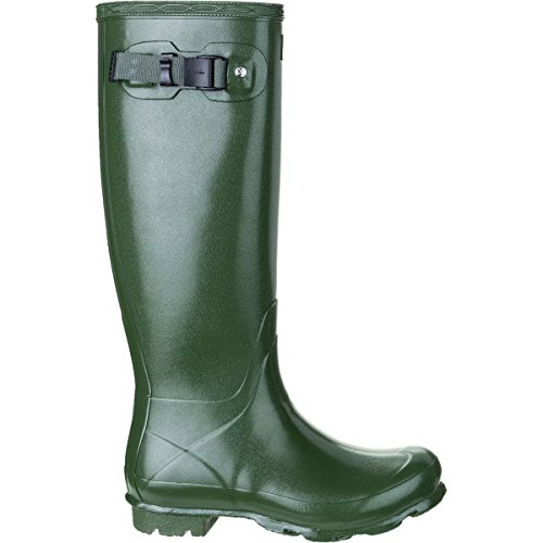 Hunters Boots Norris Field Gloss Boot - Womens Vintage Green