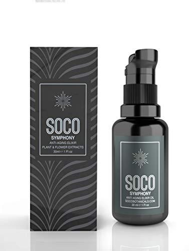 Organic Anti Aging Oil Serum - Exquisite Essential Oil Blend for Face with Sea Buckthorn, Argan, Neroli, Rosehip and CoQ10 - SOCO Botanicals