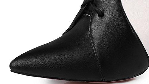 avant à taille Noir mélangées Stiletto de pointues Noir Confortable Couleurs Sangle l'usure femmes sexy pour résistant doux JAZS® 37 loisirs Bottes Couleur Oq1BIFHw