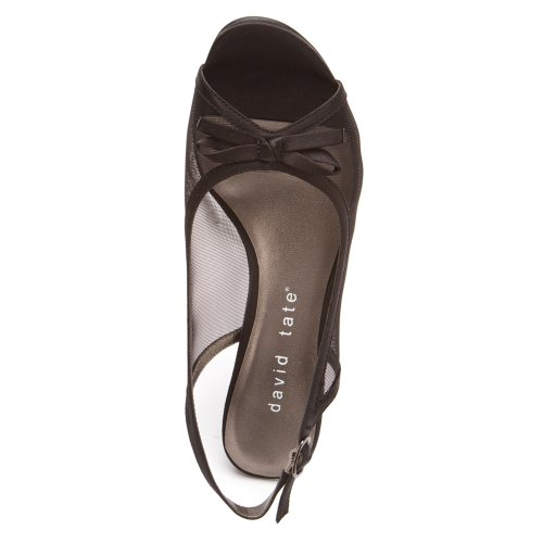 David Tate Womens Prom Satin Nero