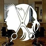 Yilooom A1034 Hair Stylist Scissors Decal Sticker Hair Dresser Salon Dryer Comb Barber