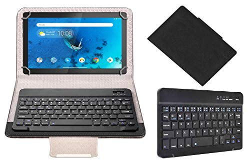 Acm Wireless Bluetooth Keyboard Case Compatible with Lenovo Tab M10 Hd 10.1 Inch Tablet Flip Cover Stand Study Gaming Black