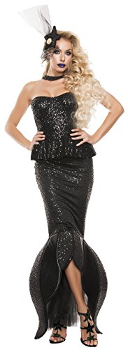 Black Mermaid Costumes For Women (Starline Women's Sexy Black Mermaid 3 Piece Costume Set, Black, Large)