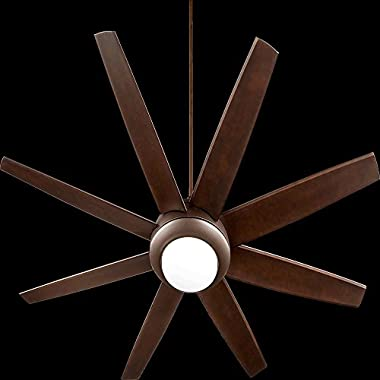Quorum 84708-86, Modesto Oiled Bronze 70  Ceiling Fan with Light & Wall Control
