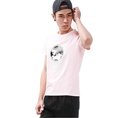 SHISHANG cotone mercerizzato T-shirt che basa la camicia europei e americani sciolto primavera girocollo a maniche corte e l'estate bianco nero rosa Pink