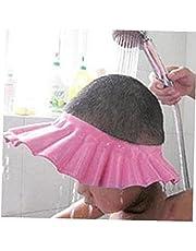 Safe Shampoo Douchebescherming Soft Cap Hoed voor Peuters Baby Kinderen Kinderen Kinderen Houd het Water Uit Hun Ogen Gezicht (roze)