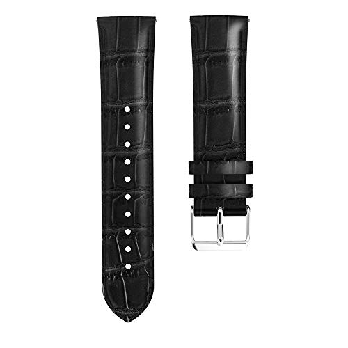 Compatible Samsung Galaxy Watch46mm,Tiean Like Crocodile Leather Replacement Fashion High-end Elegant Comfortable Soft Leather Watch Bracelet Strap Band Business Men Women (46mm, Black)