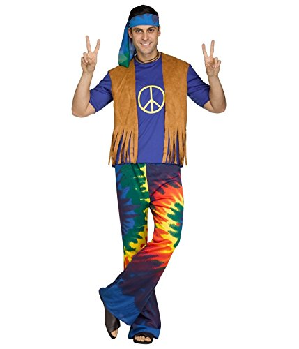 Groovy Guy Adult Costume - (60s Costumes Guys)
