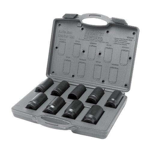 Performance Tool W89318 Axle Nut Socket Set, 9-Piece