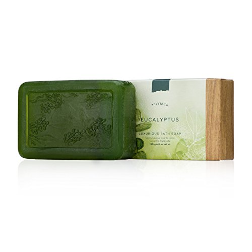 Thymes - Eucalyptus Luxurious Bath Soap - Naturally Conditioning Bar Soap with Eucalyptus Oil and Vitamin E - 6 ounce