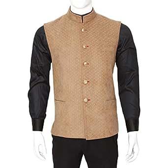 Libas Riyaz Gangji Beige Corduroy Vest For Men
