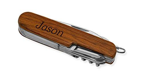 Dimension 9 Jason 9-Function Multi-Purpose Tool Knife, Rosewood