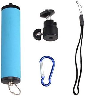 GzPuluz Tripod Head Mount LED Flash Light Holder Sponge Steadicam Handheld Monopod with Gimbal for SLR Camera Color : Blue Orange
