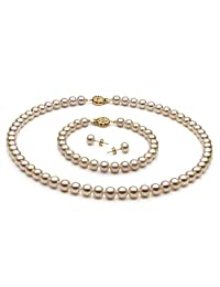 White 6-7mm AAA Quality Freshwater Cultured Pearl Set