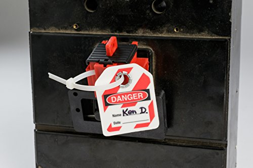 Brady TAGLOCK Circuit Breaker Lockout Devices - 480/600 Volt Clamp-On Oversized Breaker Lockout Device, No Lock Needed - Red - 148685 (Pack of 25) by Brady (Image #3)