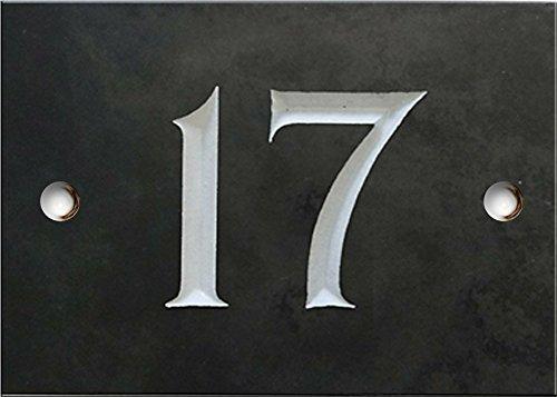 Schiefer Zahlen - 1 bis 20 (wählen Sie hier Ihre Nummer) - nummer 17