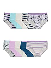 Introducing our improved cotton with extra softness, Fruit of the Loom girls' 10 pack brief is designed with breathable, 100% cotton fabric, a plush, ravel-free waistband, and soft, fabric-covered legs. This innovative waistband is durable en...