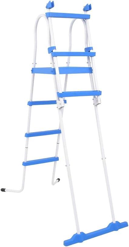 BNT Flamingo Escalera de Seguridad de Piscina elevada 3 peldaños 122 cm: Amazon.es: Hogar