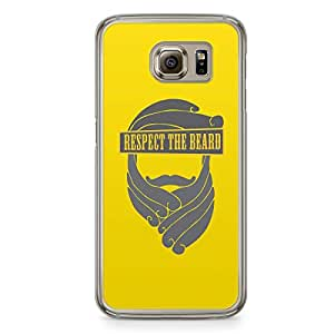 Respect Beard Samsung Galaxy S6 Transparent Edge Case
