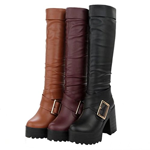AIYOUMEI Women's Classic Boot Brown ZpqsTg