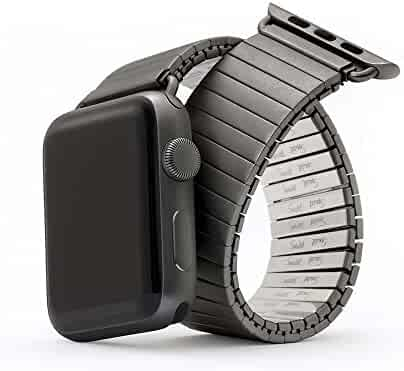 Twist-O-Flex Expansion Band in Black Stainless Steel for the 42mm Apple Watch in Size Large/Extra Large