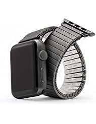 Twist-O-Flex Expansion Band in Black Stainless Steel for the 38mm Apple Watch in Size Large/Extra Large
