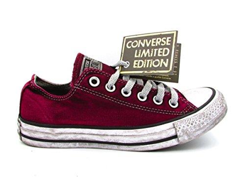 Converse Ltd Bianco Ox Bordeaux Ctas Canvas Bordeaux Sneakers 160153C 40 rfErS