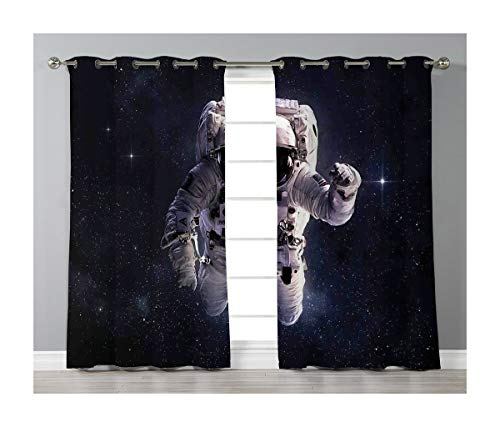 Goods247 Blackout Curtains,Grommets Panels Printed Curtains Living Room (Set of 2 Panels,52 95 Inch Length),Galaxy