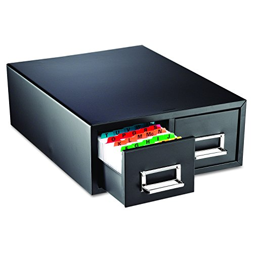 "STEELMASTER Drawer Card Cabinet Holds 3,000 3 x 5 cards, 12 5/16"" x 16"" x 5 3/16 (263F3516DBLA)"