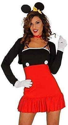 Mujer Sexy Rojo Minnie Mouse Halloween Día Del Libro Disfraz GB 10 ...