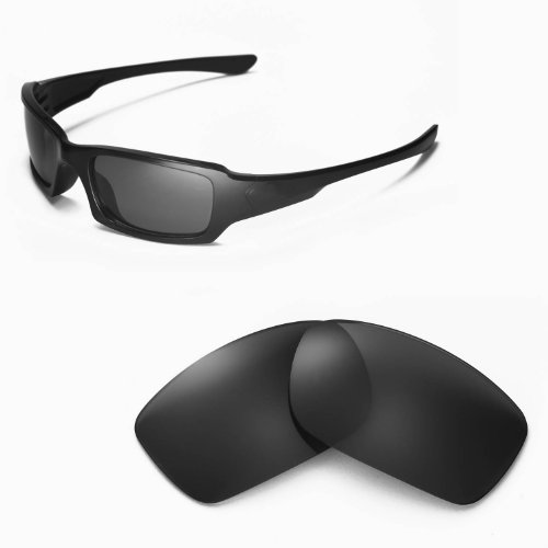 Walleva Replacement Lenses for Oakley Fives 3.0 Sunglasses - Multiple Options Available (Black - - Sunglasses Oakley 3.0 Fives