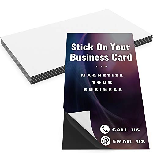 Pro-Grade Adhesive Business Card Magnets 10pk. Blank Peel-and-Stick Magnetizers Turn Company Cards Into Magnetic Contact Info. Strong, Flexible Small Magnets Great for Realtors and Promotional Ads!