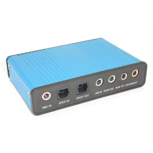 Sienoc 6CH USB Optical Sound Box Audio 5 1ch Card Adapter for Laptop PC