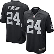 Oakland Raiders #24 Charles Woodson Mens Game Jersey