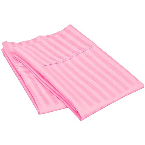 (Pillow Cases - Set of 2, Pink Stripe Standard/Queen (20