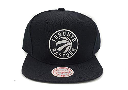 Mitchell & Ness Toronto Raptors Current Solid Wool Black Logo Adjustable Snapback Hat