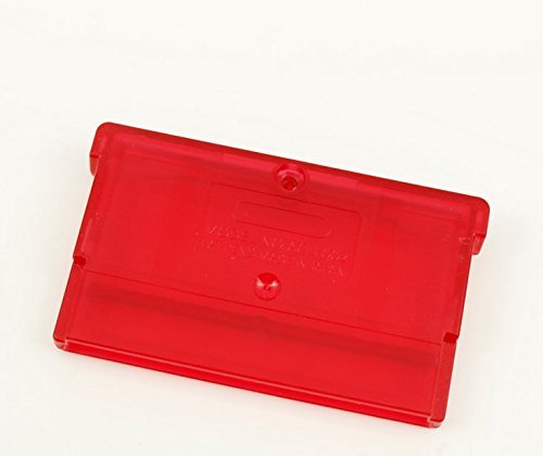 Game Cartridge Case Shell Housing Cover with Screw for GBA GBM GBA SP NDS NDSL Game Cartridge Storage Box (Transparent Red)