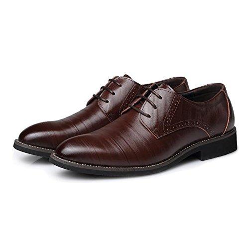 Oxfords Zapatos Zapatos Café Vestir Zapatos 39 Juleya Cuero Derby 48 Ocio Cordones Formal Zapatos Boda con PU Hombre Negocio Sx4PwS8