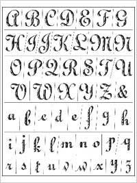 Anna Griffin Clear Stamp Sets - Fanciful Alphabet ()