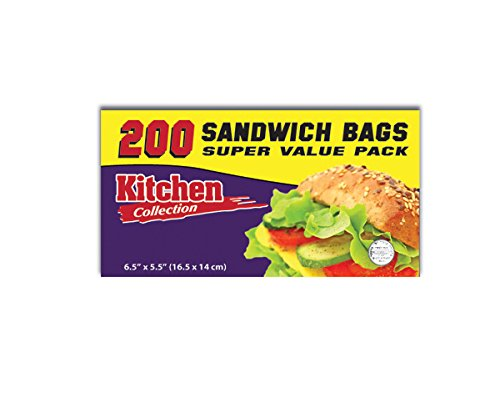 Sandwich Bag 200 Count 2 Pack (400 Bags)