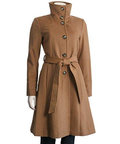 Eliza J Luxe Wool Blend A-Line Coat (Wool Blend Long Military Coat Eliza J)