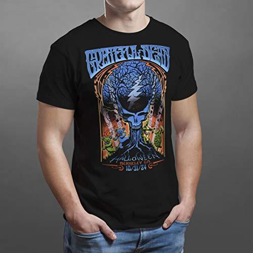 Grateful Dead Halloween Shirt (Liquid Blue Grateful Halloween Dead Berkeley'84 SS Tee, Black,)