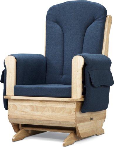 Jonti-Craft 8150JC Glider Rocker with Blue Cushions (Jonti Craft Rocker)