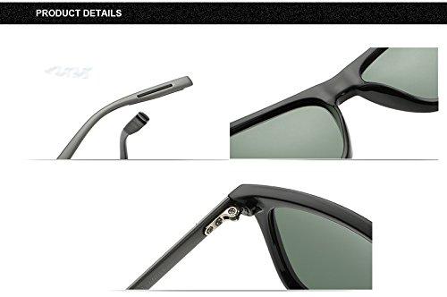 de hombre sol Aprigy Black Gafas TR90 aluminio Grey de Gray polarizadas Clear para 18HIgnxH
