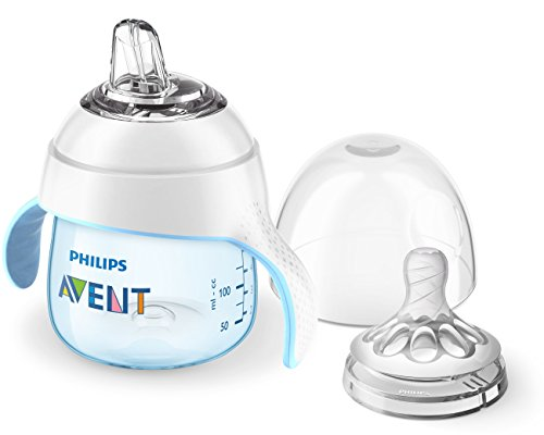 Avent Sippy Spouts - Philips Avent My Natural Trainer Sippy Cup, Blue, 5oz, 1pk, SCF262/01