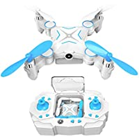 Kingtoys Mini RC Drone 100W HD Camera Collapsible Quadcopter with 2.4GHz 6-Axis Gyro and WiFi FPV (Blue) …