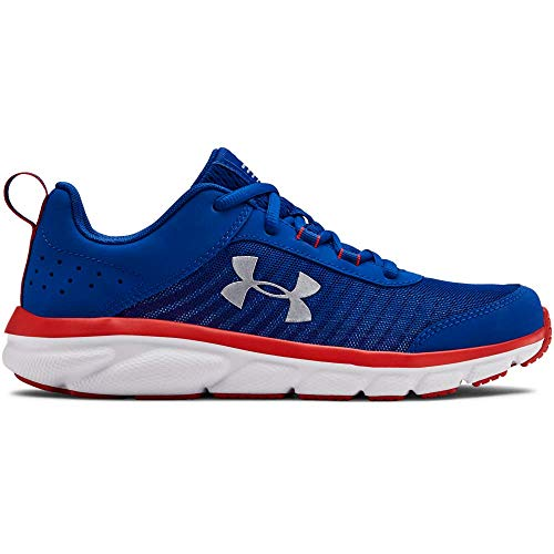 UNDER ARMOUR Kids' Grade School Assert 8 Sneaker, Royal (401)/Red, 4.5 (Size 8 Sneakers For Girls)